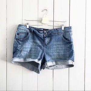 Torrid Sz 16 Plus Denim Shorts Cutoffs Blue Jeans
